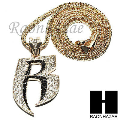 Ruff ryders new iced out ruff ryders r dmx pendant 4mm 36 franco chain necklace sn222 mozeypictures Choice Image