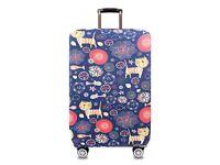 cat design, large suitcase cover