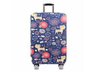 Suitcase cover - large size - (purple cat design) BRAND NEW