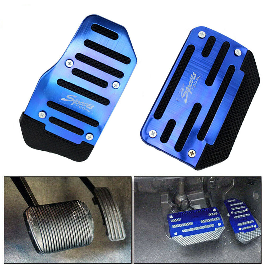 Universal Non-Slip Automatic Gas Brake Foot Pedal Pad Cover Blue Accessories Kit Car & Truck Parts