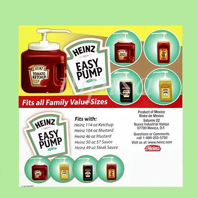 Heinz 1 Easy Pump Dispenser For 49oz - 114oz Ketchup Mustard Mayo Sauce