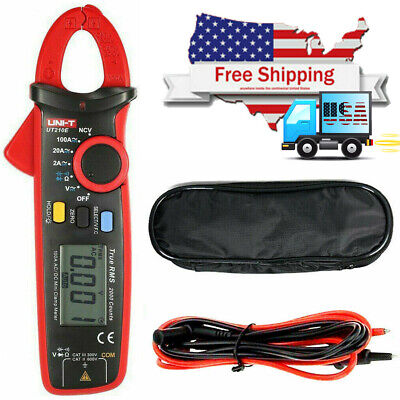 Uni-t Ut210e Digital Clamp Meter Multimeter Handheld Rms Acdc Us Shipping