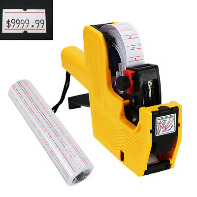 8 Digits Price Tag Gun Pricing Labeler Stickers Retail Shop Tagging Gun Portable