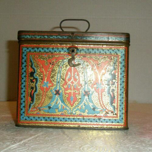 Vintage UNEEDA Nabisco Biscuit Tin Hinged Fancy Design