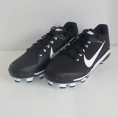 reputable site c9052 7b6a9 Nike CLIPPER  17 MCS Molded Baseball Cleats BLACK WHITE 923482 011 MEN SIZE  11