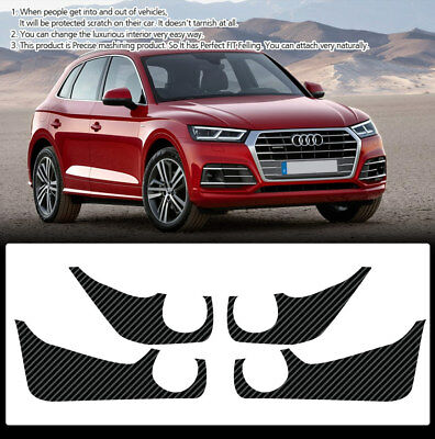 Carbon Door Cover Plank Scratch Protective Film For AUDI 2018 Q5