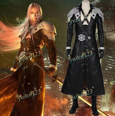 Final Fantasy 7 Remake Sephiroth Suit Cosplay Halloween Costume No Shoes Pants