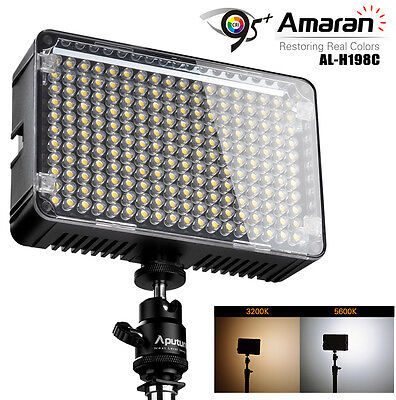 US Aputure Amaran AL-H198C CRI95+ Amaran 198 LED Video Light On Camera LED Light (Camera Video Light)