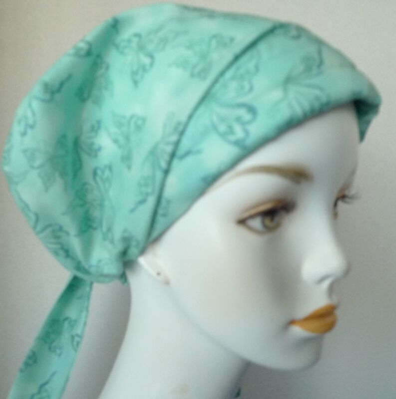 Beautiful Butterfly Cancer Chemo Hat Hair Scarf Fitted Turban Headwrap Alopecia