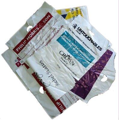 100 Medium Misprinted Patch Handle Plastic Bags 15