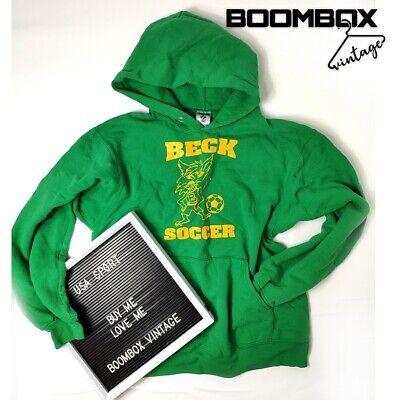 USA College Green Hoodie Beck Soccer Medium Grade A