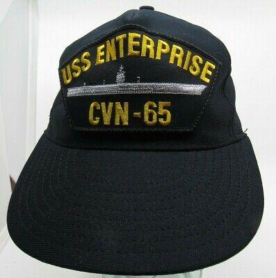 26742f270ca Vtg USS Enterprise CVN-65 Hat Cap Snapback USA Made Patch G3