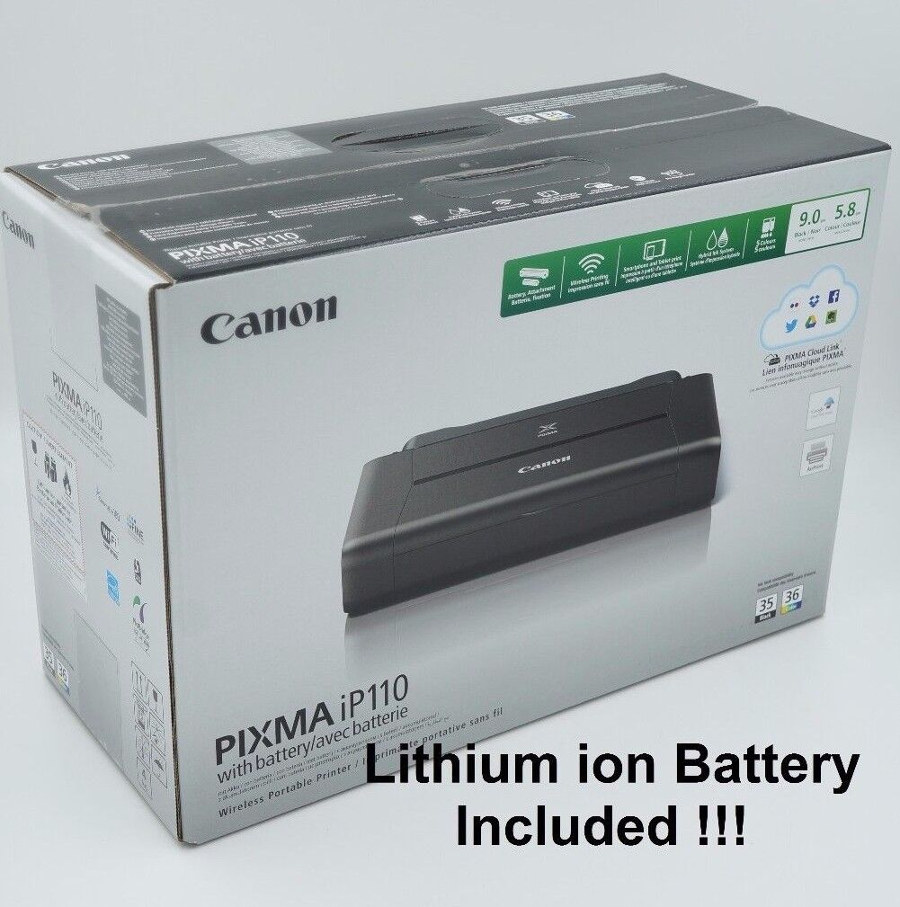 Canon Pixma iP110 Wireless Portable Mobile Inkjet Printer wi