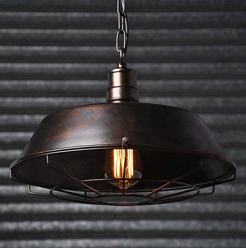 rusty rustic metal industrial vintage retro pendant lamp. Black Bedroom Furniture Sets. Home Design Ideas