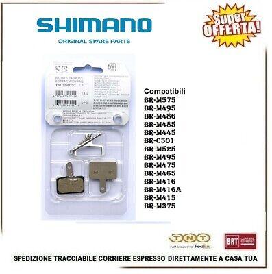 2 Coppie Pastiglie Freni Disco Shimano B01S Originali Resina DiscPads Bicicletta