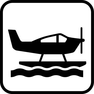 Square Metal Sign Multiple Sizes Sea Plane Recreation Parks Forestry Camping B