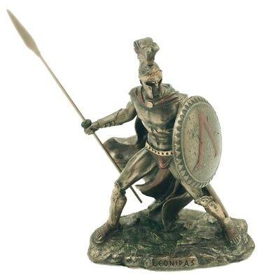 Leonidas Miniature Educational Game Playing Greek Warrior Statue 4 in - Greek Warriors