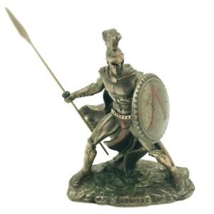 Leonidas Miniature Educational Game Playing Greek Warrior Statue 4 in H