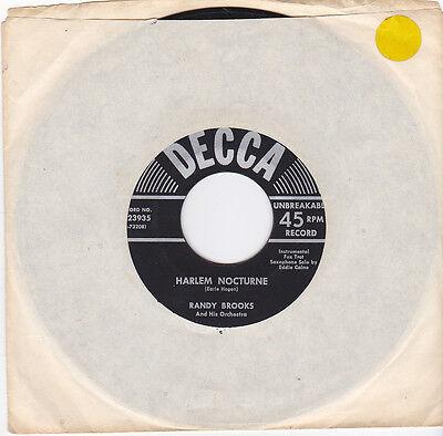 RANDY BROOKS - Harlem Nocturne/A Night At The Deuces