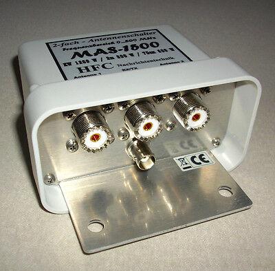 2-fach Antennenschalter MAS-1500 (0-500 MHz) UHF-Norm