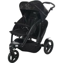 Graco Double Jogging Stroller Buggy Pram
