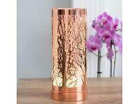 26CM ROSE GOLD TREE LED OIL BURNER/WAX WARMER