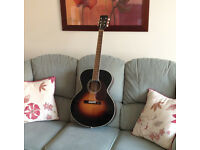 Hudson acoustic guitar with hard case both in excellent condition