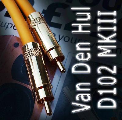 VAN DEN HUL M.C.D102 MKIII HYBRID 50CM RCA TO RCA AUDIO INTERCONNECTS(x2) 50 Rca Audio Interconnect