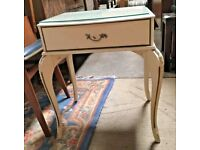 Beautiful Painted Bedside Table - Dressing Room - Bedroom - Boutique
