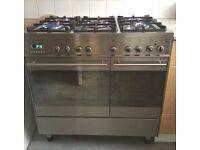 Stainless steel CDA Range cooker 90cm