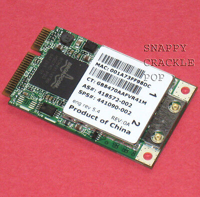 Compaq Presario Wireless (HP Compaq Presario A900 C700 F700 Wireless Mini PCI Express WIFI Card)