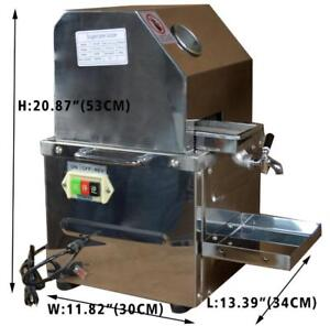 Open Box 110v Desktop Electric Sugar Cane Ginger sweet sorghum with 304 Stainless steel rollers 134014