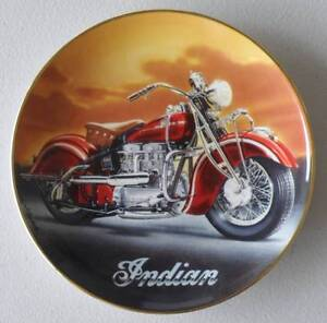 1942 Indian Motorcycle plate by Royal Doulton limited edition Smithfield Cairns City Preview