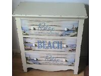Lovely beach themed chest of drawers