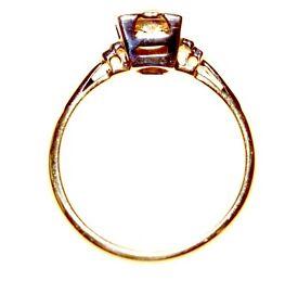 DAZZLING 18CT PLATINUM & GOLD DIAMOND EDWARDIAN RING FULLY HALLMARKED MADE IN ENGLAND FREE RESIZING