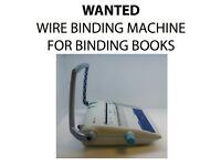 WANTED - Wire Binding Machine