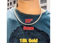 18K Gold Tennis Chain