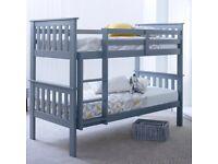 Grey Pine Heavy Duty Bunk Bed
