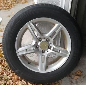 4 mags rssw pneus dhiver 235-60-17  Bolt pattern 5 x112 mm, offset 45 ( 17 H2 X 8 J )  Les magssont bon état. Pneus sont