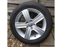 "Set of 4 VW Golf Match Edition 16"" alloy wheels with Hankook Ventus Prime 2 tyres"