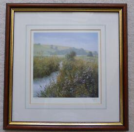 A Landscape Scene by Peter Jay – Signed Print, Framed and Glazed