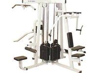 Multi station exercise gym