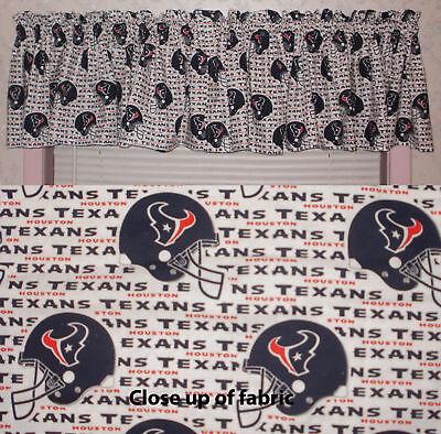 New NFL Houston Texans Football Valance Curtains - Houston Texans Valance