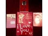 4 bundle cards valentine Christmas love girlfriend