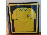 Official 4 Star Brazil shirt Framed