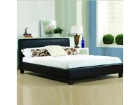 Lack leather kingsize bed frame great condition