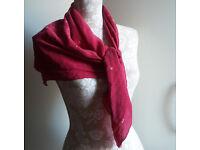 Laura Ashley scarf shawl wrap ruby red