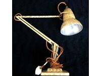 Vintage Herbert Terry Rare Anglepoise Model 1227 Articulated Desk lamp Original for sale