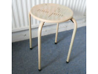 Retro Metal Stool, Plant Stand, Lamp Table