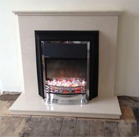 40inch marble fireplace (NEW )